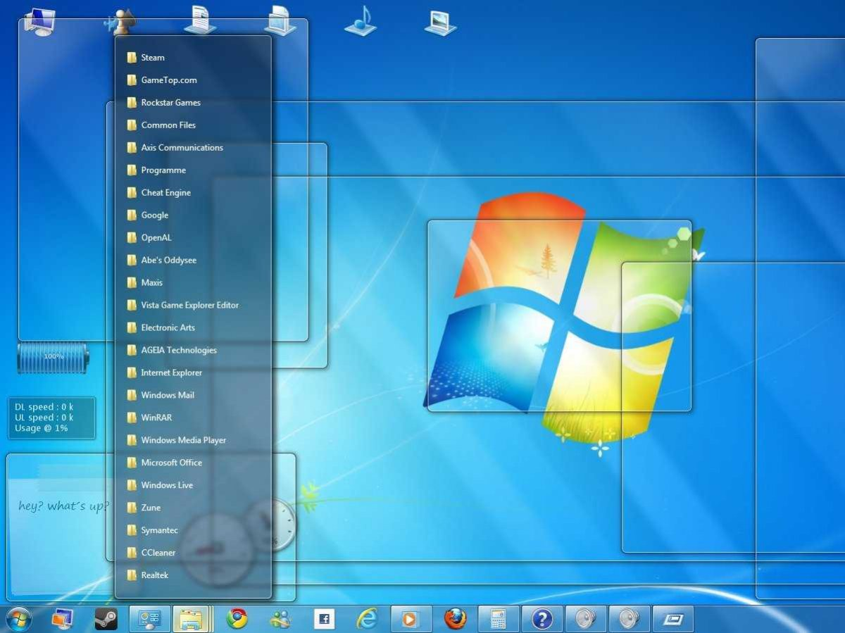 Как сделать прозрачные ярлыки в windows 7